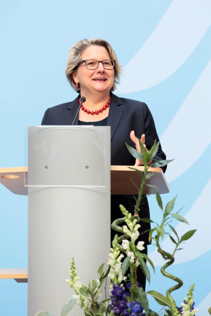 Grußwort der Bundesumweltministerin Svenja Schulze bei der Papieratlas-Veranstaltung 2018, Foto: Foto Kirsch